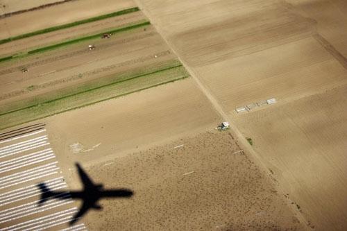 plane over field copy